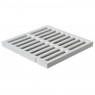 Grille de sol PVC renforcée anti-choc - GRIS - FIRST-PLAST