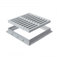 Grille de sol PVC légère avec cadre anti-choc- GRIS - FIRST-PLAST