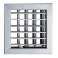 Grille ventilation porte et cheminée 180x180mm