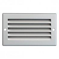 Grille ventilation métal 100x60mm - Couleur Aluminium ou inox