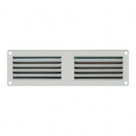 Grille ventilation métal 200x60mm - Couleur Aluminium ou inox