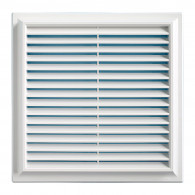 Grille ventilation PVC traditionnelle 240x240mm - Pose en applique