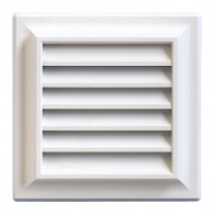 Grille ventilation PVC traditionnelle 140x140mm - Pose en applique