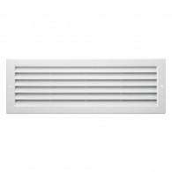 Grille ventilation rectangulaire PVC 130x370mm à encastrer