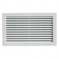 Grille ventilation rectangulaire PVC 380x230mm à encastrer