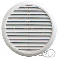 "Grille ventilation ronde PVC à encastrer ""IN OUT"" First-Plast"