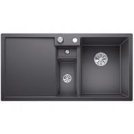 Évier de cuisine Collectis 6S - Gris Rocher - sous-meuble 60 cm - L 1000 x l 500 x P 190 mm + Bac de tri - Blanco