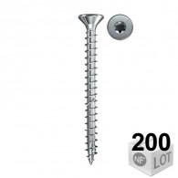 200 Vis à bois aggloméré Power-Fast TX10 Ø3x40mm - Filetage partiel - Fischer