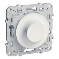 Variateur Odace pour lampes fluocompactes blanc 100W 2 fils - S520518