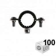 100 Colliers de fixation Atlas simple isophonique - Ø12 ou Ø14 ou Ø16 ou Ø18 ou Ø20 ou Ø22 - Fischer