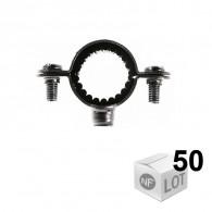 50 Colliers de fixation Atlas simple isophonique - Ø26 ou Ø28 ou Ø32 - Fischer
