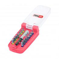 Jeu d'embouts de vissage TORX - TORX percé à code couleur TORSIONplus KS Tools 918.3020