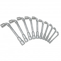 Jeu de 10 clés à pipe débouchées métriques - 6 pans - en boîte KS Tools 517.0440
