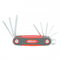 Jeu de 8 clés mâles TORX® percé sur monture KS Tools 158.3530