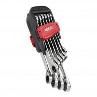 Jeu de clés mixtes à cliquet reversible GEARplus , 10 pcs KS Tools 503.4620