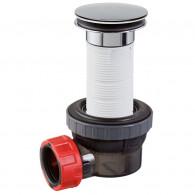 Ensemble bonde 100 mm et siphon lavabo NANO 6.7 Quick-Clac Ø32 mm - Wirquin Pro 30721244