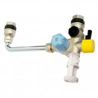 """Kit groupe de sécurité 3/4"""" SECUR3 TEFLON orientable chauffe-eau et limiteur température"""