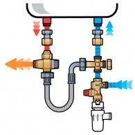 """THERMADOR KMIXVI Kit de sécurité chauffe-eau complet droit laiton brut 3/4"""""""