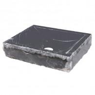 Lavabo à poser en pierre noir marbré L45 x P40 x H10 - Ondyna UC3307