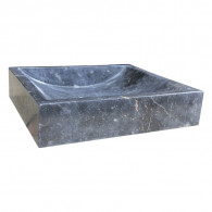 Lavabo à poser en pierre noir marbré L45 x P40 x H10 - Ondyna UC3007