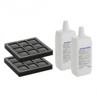 Lot 2 filtres à charbon + 2 liquides de nettoyage buse Geberit AquaClean8000