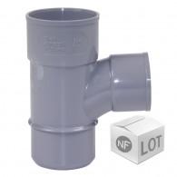 Lot de raccord PVC - Té pied de biche 87°30 Mâle Femelle FIRST-PLAST