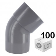 Lot de 100 raccords PVC - Coude 45° MF Ø32 ou Ø40 ou Ø50 FIRST-PLAST