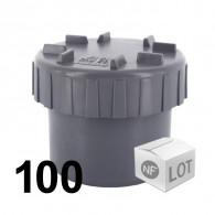 Lot de 100 raccords PVC - Tampons de visite Ø50 NF ME First Plast