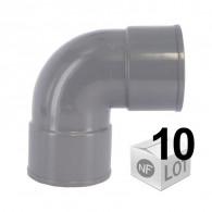 Lot de 10 raccords PVC - 87°30 FF Ø32 - Ø40 - Ø50 - Ø100 FIRST-PLAST