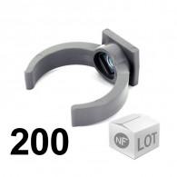 Lot de 200 raccords PVC - Collier lyre à emboîtage Ø32 ou Ø40 ou Ø50 NF ME First Plast