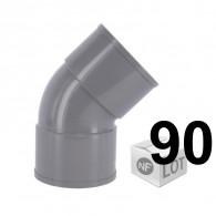 Lot de 90 raccords PVC - Coudes à 45° FF Ø50