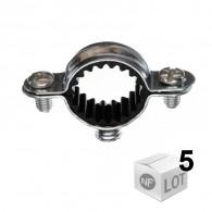 5 Colliers métalliques en acier simple isophonique - Ø32 ou Ø28 - RAM