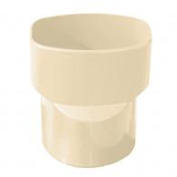 Manchon PVC MØ80 - F97x57 pour tube de descente oval