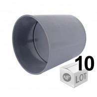 Lot de 10 raccords PVC - Manchon à butée Femelle Femelle Ø32 ou Ø40 ou Ø50 ou Ø100 FIRST-PLAST
