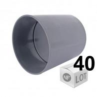 Lot de 40 raccords PVC - Manchons à butée Ø100 Femelle Femelle FIRST-PLAST