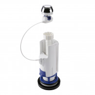 Mécanisme de chasse 1V11 N.F. à câble à poussoir simple débit Nicoll