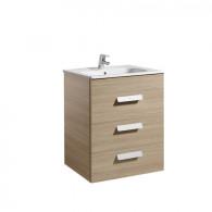 Meuble Unik DEBBA 600 3 tiroirs et lavabo