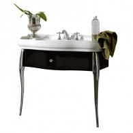 Meuble 1 tiroir noir avec pieds console Retro Parigi - Ondyna WPG7363