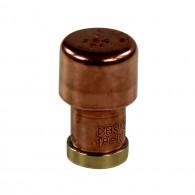 """Mini bouton de meuble cuivre """"Industriel"""" - Arcanaute"""