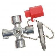 Mini clé universelle pour armoire éléctrique, 45x45 mm KS Tools 130.1010