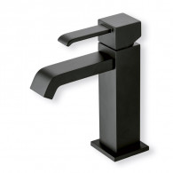 Robinet mitigeur lavabo QUADRI Blackmat + vidage - Cristina Ondyna QM22013