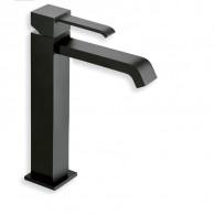 Mitigeur lavabo mi-haut Blackmat Quadri et vidage Up & Down - Ondyna QM22713