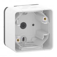 Mureva Styl - Boîte 1 poste - montage saillie - IP55 - IK08 - blanc