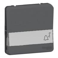 Mureva Styl - Bouton poussoir porte-étiquette - composable - IP55 - IK08 - gris