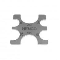 Outil HENCO pour contrôler la précision d'un sertissage Ø14-32