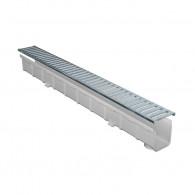 Pack Caniveau PRATIKO PVC 100x1000 avec Grille Passerelle acier A15