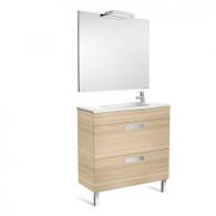 Pack Unik DEBBA compact  800 2 tiroirs, lavabo, miroir et appliques