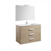 Pack Unik DEBBA 1000 3 tiroirs, lavabo, miroir et applique LED