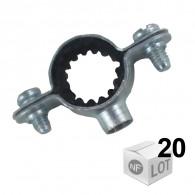 Lots de 20 Colliers de fixation Atlas simple isophonique Ø14 ou Ø16 ou Ø18 ou Ø22 - FISCHER