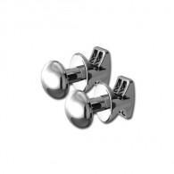 Patères rondes chromées (x2) pour radiateur sèche-serviettes tubes ronds